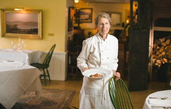 Award-winning chef Sue Schickler prepares farm-to-table feasts at The Pitcher Inn.